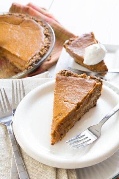 Vegan Pumpkin Pie | healthy dessert | thanksgiving | pie | pumpkin