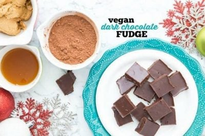 Vegan Dark Chocolate Fudge