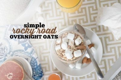 Simple Rocky Road Overnight Oats
