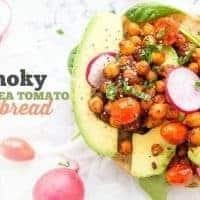 Smoky Chickpea Tomato Flatbread