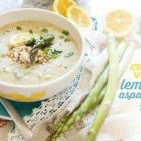 Creamy Vegan Lemon Asparagus Soup