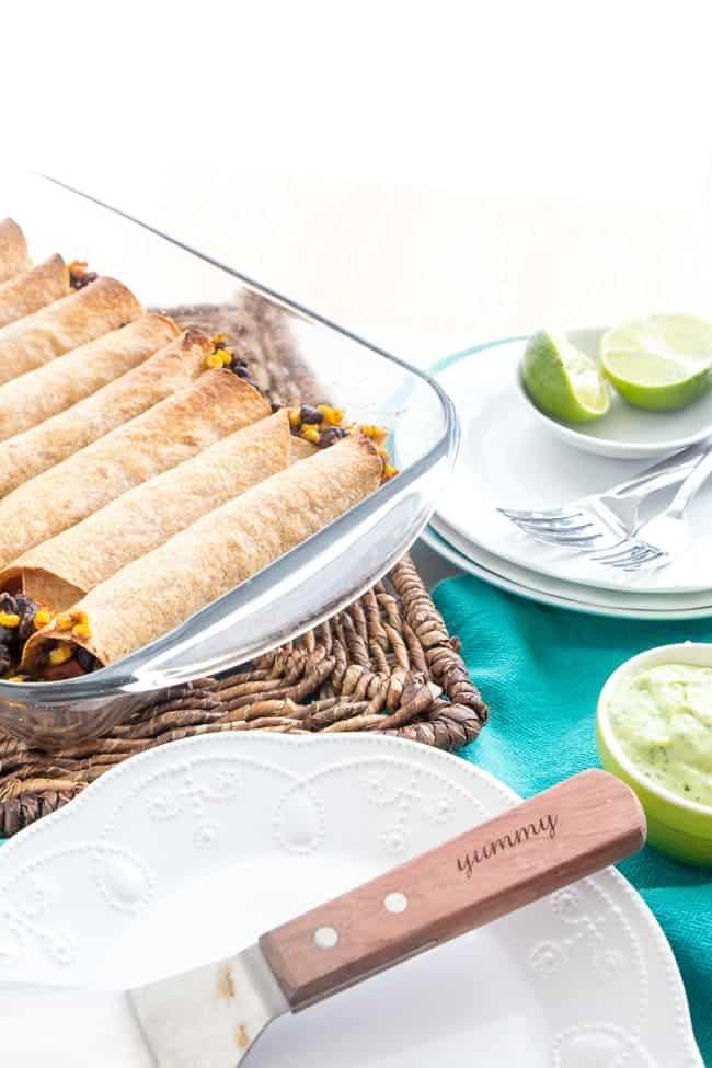 CRISPY BLACK BEAN SWEET POTATO BAKED BURRITOS | FAMILY RECIPE | VEGETARIAN | VEGAN | WEEKNIGHT RECIPE | HEALTHY DINNER | EASY RECIPE