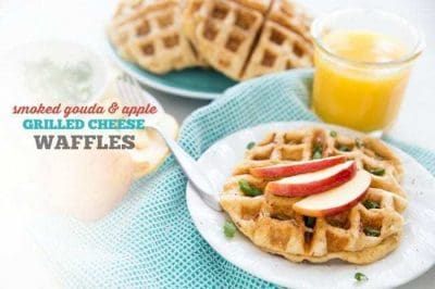 Smoked Gouda & Apple Grilled Cheese Waffles