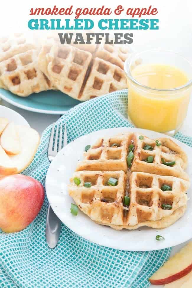 SMOKED GOUDA & APPLE GRILLED CHEESE WAFFLE   BREAKFAST   3 INGREDIENT   EASY RECIPE   FAST RECIPE   HEALTHY RECIPE   SNACK   LUNCH   DINNER