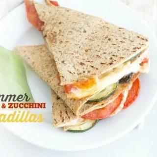 Summer Tomato & Zucchini Quesadilla