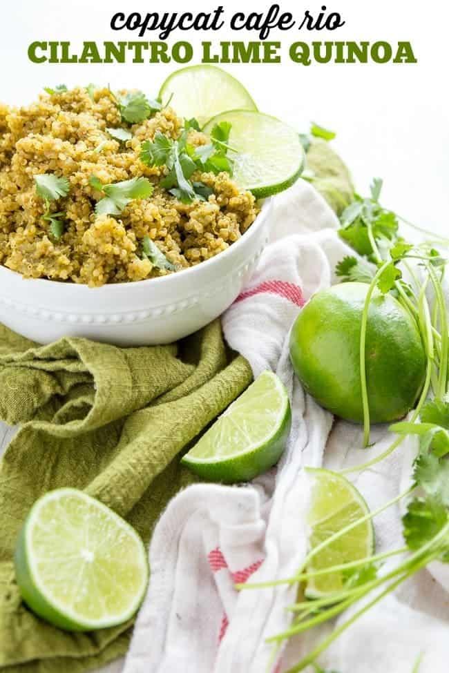 COPYCAT CAFE RIO CILANTRO LIME QUINOA RECIPE | HEALTHY RECIPE | INSTANT POT | EASY DINNER
