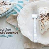DAIRY-FREE | CREAM PIE | CHOCOLATE COCONUT | ALLERGY FRIENDLY | DESSERT RECIPE | EASY RECIPE