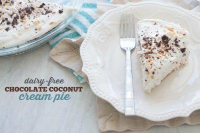 DAIRY-FREE | CREAM PIE | CHOCOLATE COCONUT | ALLERGY FRIENDLY | DESSERT RECIPE | EASY RECIPE