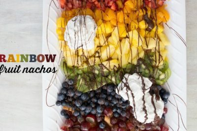 Rainbow Fruit Nachos
