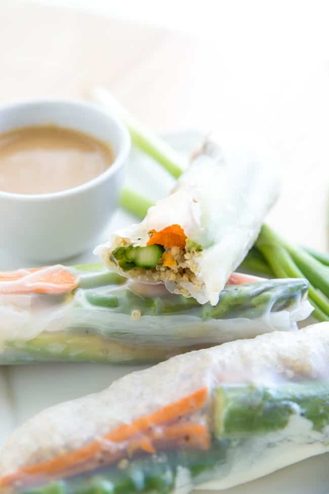 VEGGIE SPRING ROLLS   ASIAN-INSPIRED   VEGAN   VEGETARIAN   APPETIZER   FRESH HEALTHY FOOD   EASY RECIPE