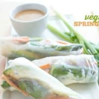 VEGGIE SPRING ROLLS | ASIAN-INSPIRED | VEGAN | VEGETARIAN | APPETIZER | FRESH HEALTHY FOOD | EASY RECIPE