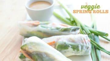 VEGGIE SPRING ROLLS | ASIAN-INSPIRED | VEGAN | VEGETARIAN | APPETIZER | FRESH HEALTHY FOOD | EASY RECIPE