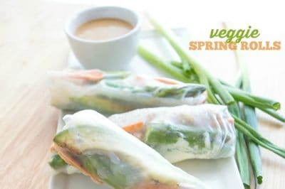 Veggie Spring Rolls with Kamikoto