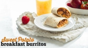 Sweet Potato Vegan Breakfast Burritos