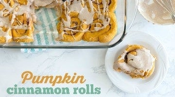 Pumpkin Cinnamon Rolls (Vegan)
