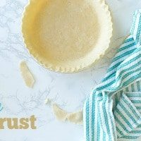VEGAN PIE CRUST | DESSERT | PIE | DAIRY-FREE | HEALTHY RECIPE