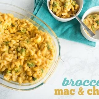Vegan Mac & Cheese with Broccoli