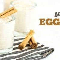 VEGAN EGGNOG | DAIRY FREE | EGG FREE | BLENDER FRIENDLY | HOLIDAY BEVERAGE | COCKTAIL | MOCKTAIL