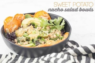 SWEET POTATO NACHO SALAD BOWLS are exactly what you need if you're craving nachos but still want tons of nutritious ingredients in your bowl