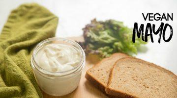 Vegan Mayo Recipe - perfect for vegan sandwiches, potato salads, picnics, and wraps
