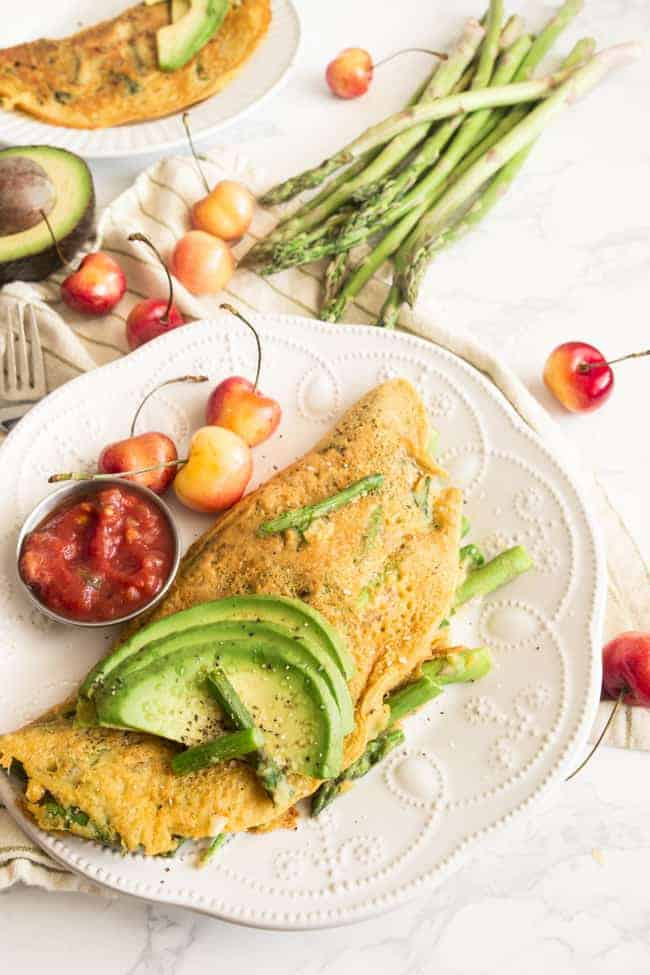 This Vegan Egg Asparagus Omelette is exactly what you've been missing in your plant-based lifestyle.