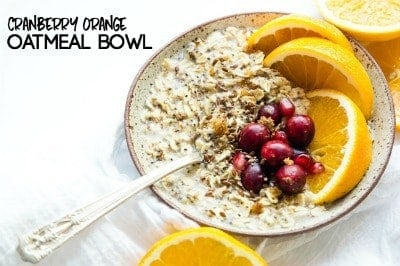 CRANBERRY ORANGE OATMEAL BOWL