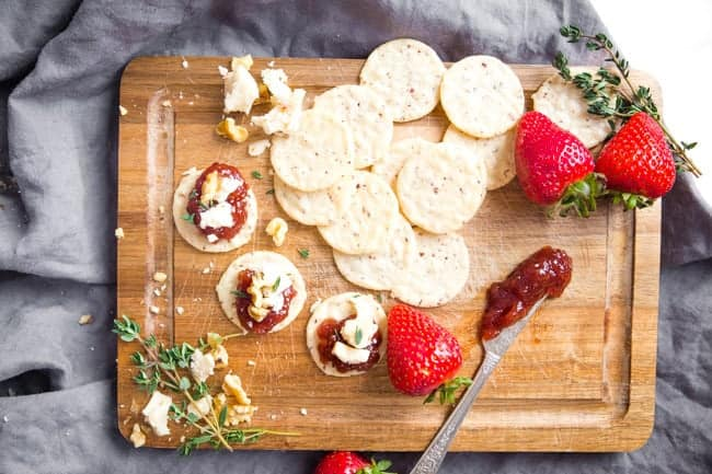 Having a tray of the Strawberry Thyme Vegan Appetizer Bites will ensure that your guests aren't left hungry waiting for the main event!