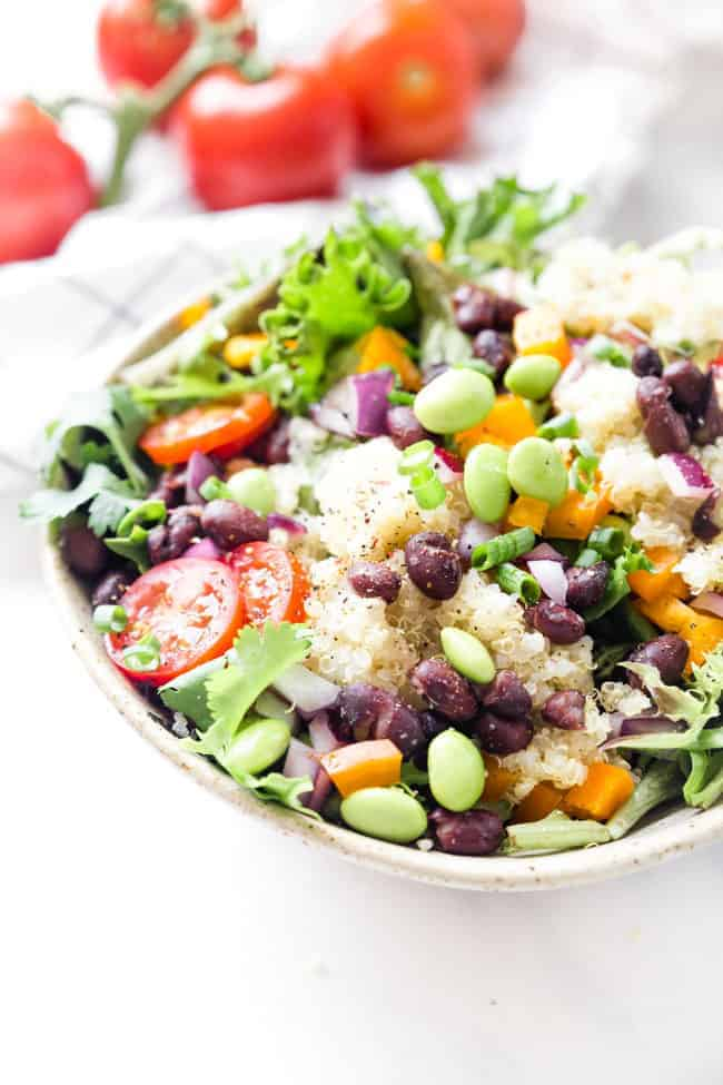 High Protein Vegan Salad - QUINOA BLACK BEAN SALAD