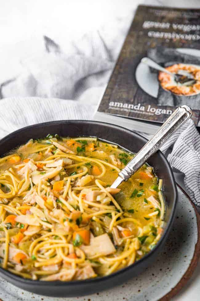 Vegan Chicken Noodle Soup - a plant-based twist on an all-american comfort food that soothes the body from the inside out.