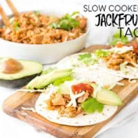 SLOW COOKER JACKFRUIT TACOS ARE A VEGAN STAPLE THAT COMES TOGETHER IN NO TIME!
