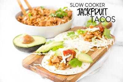 SLOW COOKER JACKFRUIT TACOS