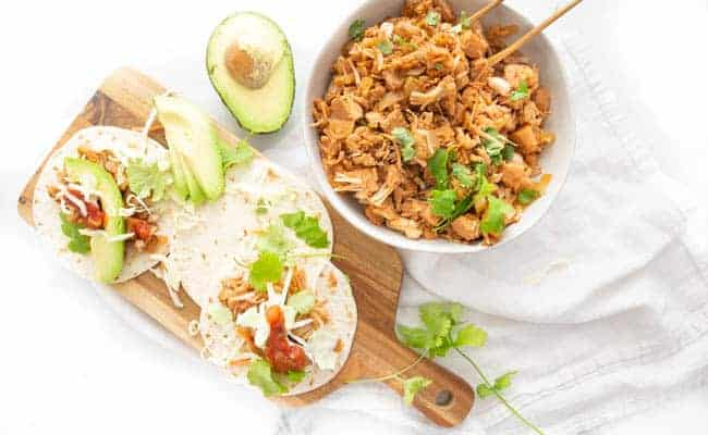 JACKFRUIT TACOS ARE A VEGAN WIN EVERY TIME . -ESPECIALLY WHEN THEY COME TOGETHER IN THE SLOW COOKER