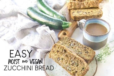 VEGAN ZUCCHINI BREAD WITH APPLESAUCE - SUPER EASY AND DELICIOUS!
