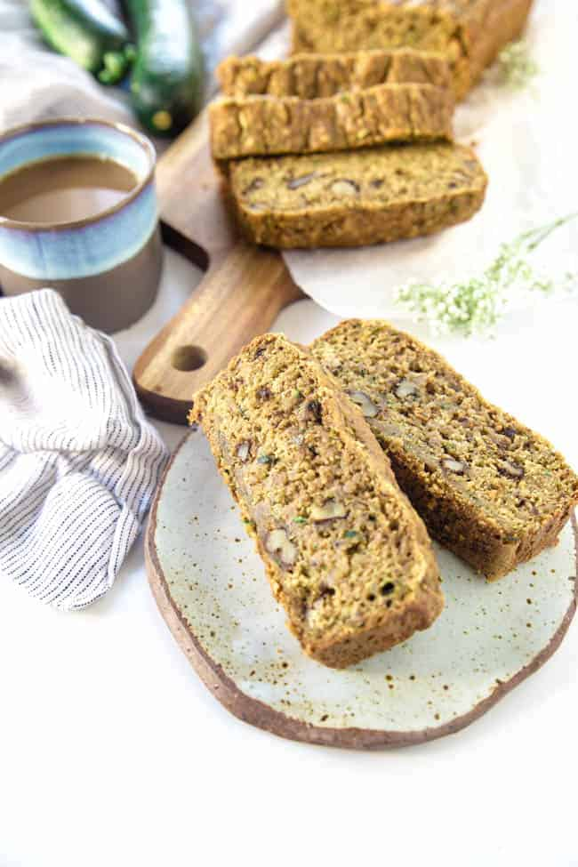 Vegan Zucchini Bread | Moist, Family-friendly | Lunchbox-ready | Great for snacking