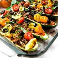 HOW TO MAKE EASY GARDEN-STUFFED ITALIAN ZUCCHINI BOATS