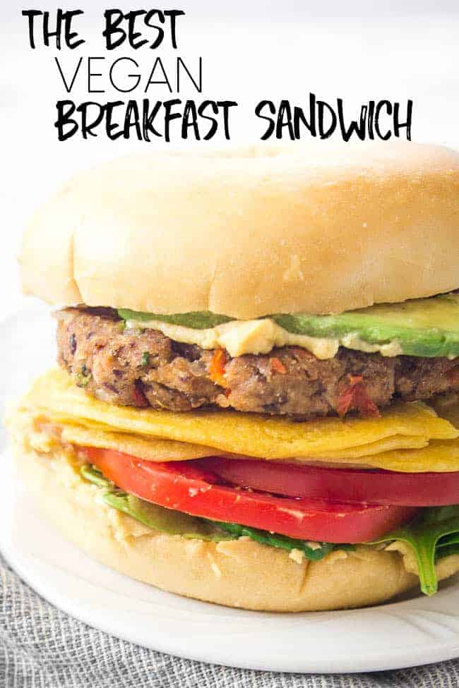 HOW TO MAKE THE BEST VEGAN BREAKFAST SANDWICH | MEATLESS BREAKFAST SANDWICH