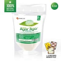 Agar Agar Powder: Vegetable Gelatin 100% from Red Algae, Dietary Fiber Thickener | Vegan, Vegetarian, Non-GMO, Gluten-free, Kosher, Halal | Desserts, Snacks for Kids and Pets | LIVING JIN [4/12/28oz]