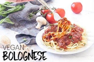 ONE-POT CLASSIC MUSHROOM VEGAN BOLOGNESE SAUCE RECIPE