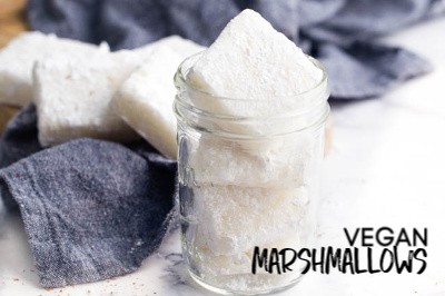 Vegan Marshmallow Recipe - shelf-stable vegan marshmallows