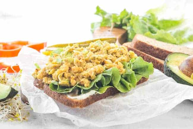 Chickpea Avocado Sandwich - Perfect for lunchboxes!