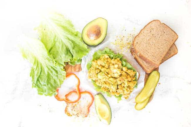 Healthy Ingredients in this Smashed Chickpea Avocado Salad Sandwich Recipe