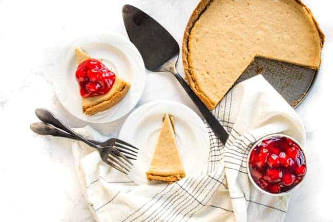 Vegan Baked Cheesecake - Just like a traditional baked cheesecake but totally dairy-free