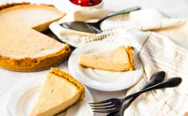 Easy Vegan Cheesecake is the way to go when feeding a crowd.