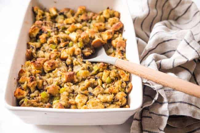 Vegan Mushroom Stuffing for a Meatless Vegan Stuffing Recipe