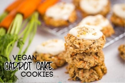 HEALTHY CARROT CAKE OATMEAL COOKIES ARE SUCH A YUMMY TREAT AROUND SPRING OR ALL YEAR LONG!