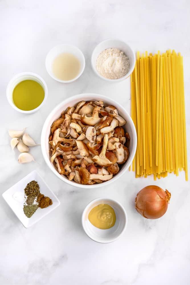 Ingredients for Mushroom Stroganoff Recipe