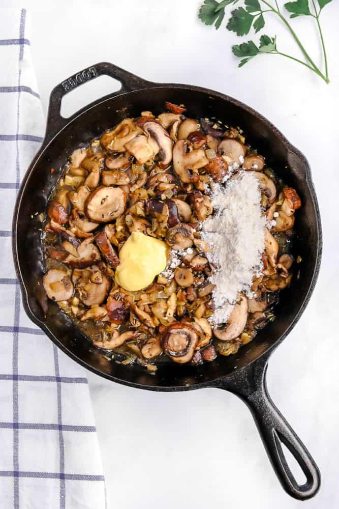 Ingredients for Vegan Mushroom Stroganoff Recipe