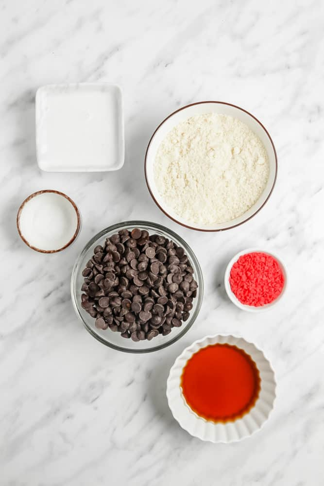 ingredients for vegan truffles
