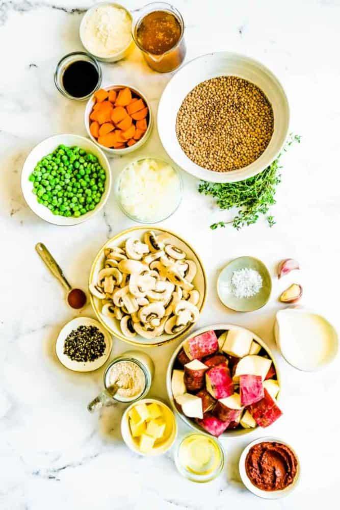 ingredients needed for shepherd's pie vegetarian
