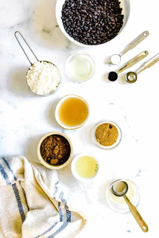 ingredients for homemade thin mints recipe
